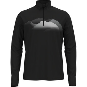 Odlo Trafoi Midlayer Con Mezza Zip Uomo, black/graphic20